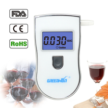 2017 new patent portable digital mini breath alcohol tester wholesales a breathalyzer test with 5 mouthpiece AT818 Free shipping(China)