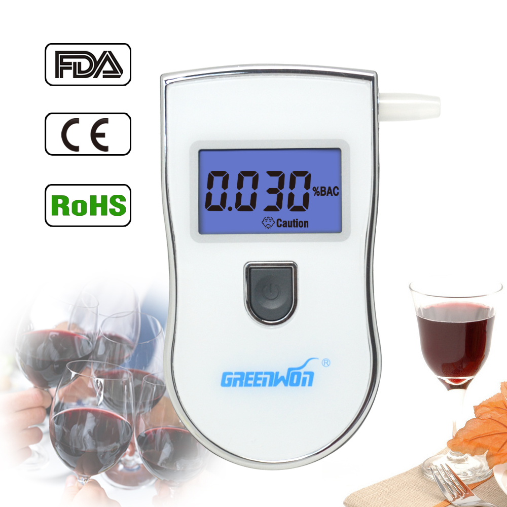 2017 new patent portable digital mini breath alcohol tester wholesales a breathalyzer test with 5 mouthpiece AT818 Free shipping(China (Mainland))