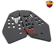 For YAMAHA MT07 FZ07 MT-07 FZ-07 2014 2015 2016 Black Motorcycle Accessories Foot Peg Heel Plates Guard Protector