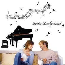 Music piano notes classroom wall stickers living room bedroom sofa TV background child counseling training room  stickers