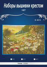 5th5th Top Quality Lovely Counted Cross Stitch Kit Dimensions Daisies Field Similar dmc threads(China)