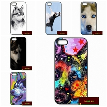 Siberian Husky Dog puppies Cover case for iphone 4 4s 5 5s 5c 6 6s plus samsung galaxy S3 S4 mini S5 S6 Note 2 3 4 DE0908(China)