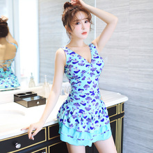 Modern Womens One Piece Swimsuit V Neck Sexy Beach Dress Skirt Bathing Suit 2016 High Quality Female Slimming Swim Wear