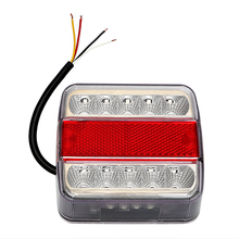 14 leds DC 12V Brake Stop Lamp Car Styling High Quality Trailer Boat Caravan Taillight Car Warning Lights LED Truck Tail Light(China)