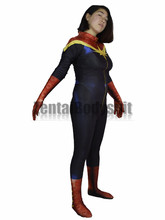 3D Printing Ms Captain Marvel Bodysuits Superhero Costume Spandex Lycra Cosplay Zentai Halloween Party