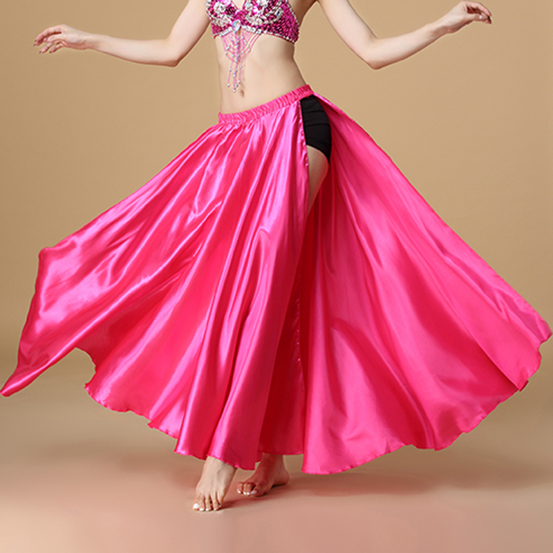 2020 Performance Belly Dance Costume Saint Skirt 2-sides Slits Skirt Sexy Women Oriental Belly Dance Skirt Female Dance Clothes