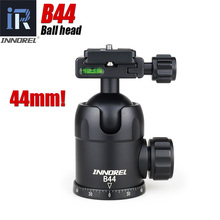 B44 ball head for tripod monopod lengthened Quick Release Plate 44mm large sphere Panoramic photo heavy duty max load 15kg(China)