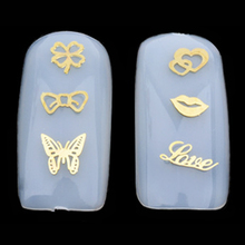 12 Models/set Gold 3D Design Christmas Nail Sticker Bling Bows Nail Art Manicure Stickers Decals For Women Nails Decoration