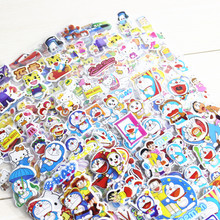 6pcs/lot Fashion Brand Kids Toys Cartoon Cute Animals Zoo 3D Stickers Children girls boys PVC Stickers Bubble Stickers