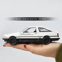Alloy acousto optic pull toy car police car AE 86 Fujiwara model initial D die casting metal plastic scale car collection