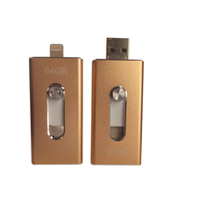3 all in 1 OTG Apple Android system usb Flash Drive 16gb memory Metal Pen Drive high compatible with mobile devices PC computer