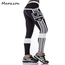 Buy Maoxzon Womens Digital Print High Waist Bodycon Workout Fitness Slim Leggings Pants Female Fashion Elastic Skinny Trousers for $10.34 in AliExpress store