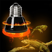 Lowest Price 25W/50W/75W/100W Black Infrared Ceramic Emitter Heat Light Lamp Bulb For Reptile Pet Brooder 220V(China)