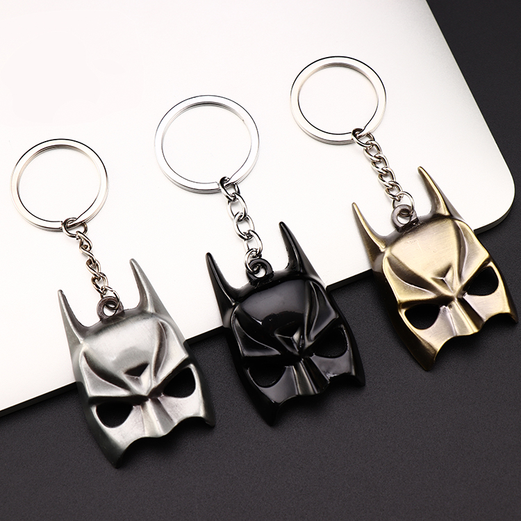 Metal Marvel Avengers Captain America Shield Keychain Spider man Iron man Mask Keychain Toys Hulk Batman Keyring Key Gift Toys (95)