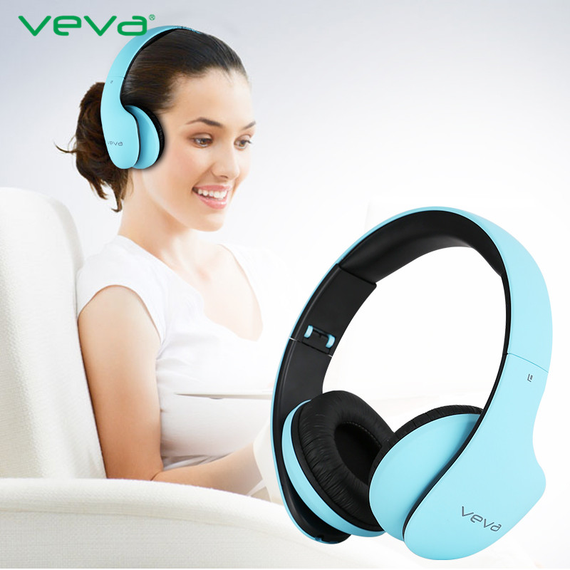 VEVA Top Quality Bluetooth Headphones Bluetooth 4.0 Wireless Headset HD Fidelity with Microphone Stereo Bass Sound Earphone New<br><br>Aliexpress