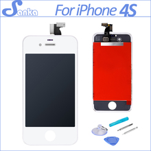 SANKA AAA LCD For iPhone 4S LCD Screen Display Digitizer Touch Screen Assembly Replacement &Tools Mobile Phone Parts White(China)