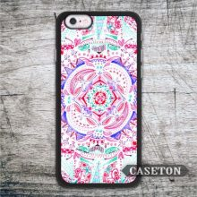 Pastel Pink Flower Mandala Case For iPhone 7 6 6s Plus 5 5s SE 5c and For iPod 5 High Quality Lovely Floral Phone Cover
