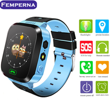 Femperna Q528 Smart Baby Watch Touch Screen 2G GSM GPS Locator Tracker Anti-Lost flashlight SOS kids Smartwatch for android IOS