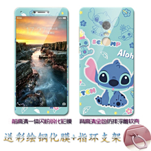 For xiaomi redmi note 4x case with Ring Cartoon 3D cute soft TPU color tempered glass film Fitted Case for redmi note 4x prime