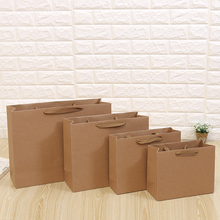 10PCS/Lot Kraft Paper Bags With Handle for Baby Shower Wedding Birthday Party Favor Gift Christmas New Year Shopping Package Bag