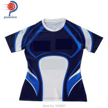 wholesale OEM top quality design professional short sleeve cheap rugby jersey(China)