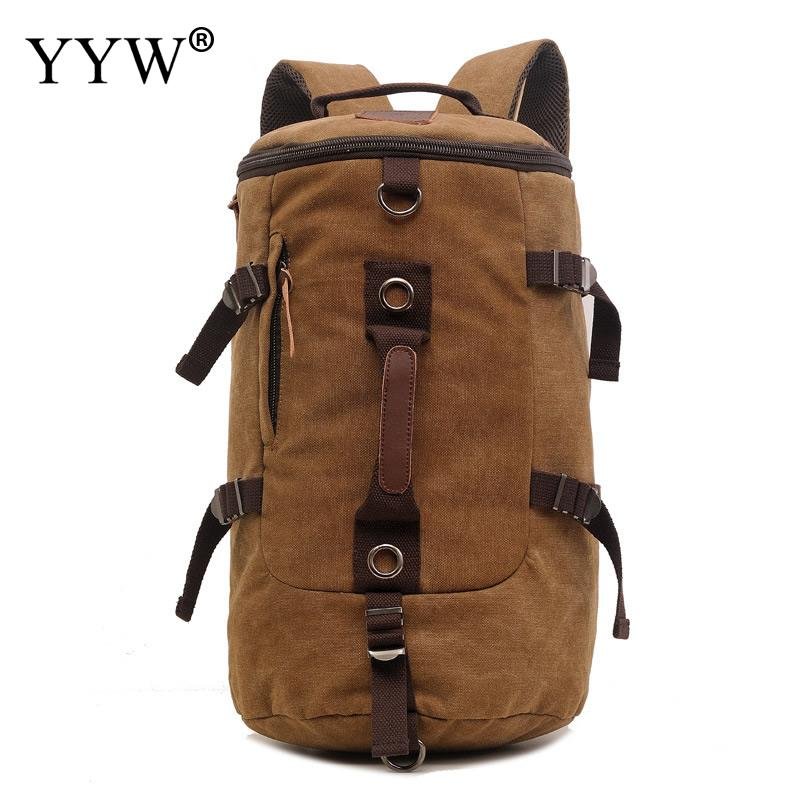 Large capacity man travel bag mountaineering backpack men bags canvas bucket shoulder bag ravel Capacity Male Fashion Backpack<br>