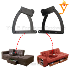 black Furniture Sofa Backrest lift up Mechanism pull out Tea Table Hinge D09-1