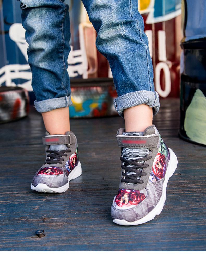 Kids Sneakers For Boys Basketball Shoes Running The Avengers Baby Casual Children shoes Sport boot Cartoon gamin chaussure (12)