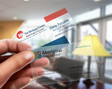 PVC business card transparent card, 0.38mm Thickness, Top quality, Best Price+free shipping(China)