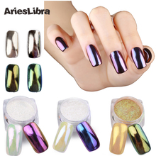 1g/pot 11 Colors Shining Mirror Nail Glitter Powder Attractive Nail Art Chrome Pigment Glitters Dust Nail Art Decorations