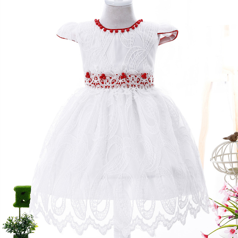 2 3 Years Girls Wedding Party Dresses Flower Girl Princesa Children Mesh Dress Kids 1Y Birthday Dress Costume For Kids Baby Girl<br>