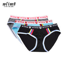[Asian size,not US/EU size]1 lot=3 pcs WLIMG brand briefs soft breathable underwear men cotton briefs men sexy men underwear(China)
