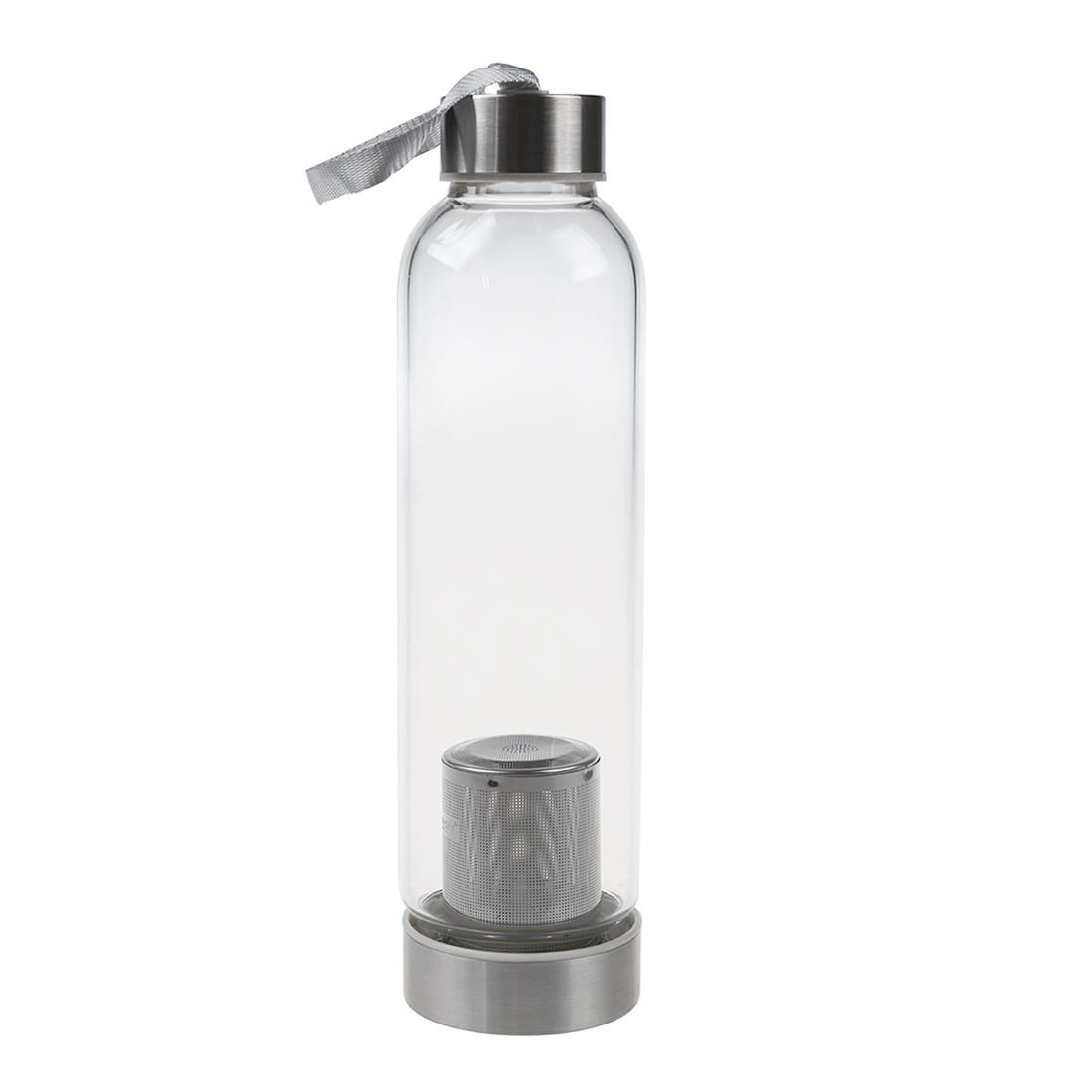 HOT-Glass Sport Water Bottle with Tea Filter Infuser Protective Bag 550ml 1