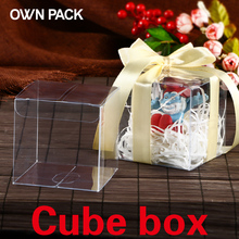 Hot Sale 10 pcs  clear  box wedding decorations event party supplies favors and gifts plastic boxes