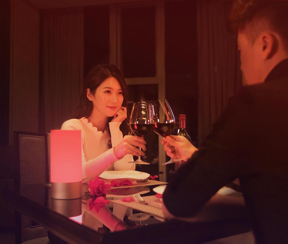 Original Xiaomi Mijia Mi Smart Light Indoor Bedside Lamp Desk Table 16 Million RGB Touch Control Bluetooth Wifi for Mihome APP
