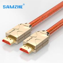 SAMZHE 4K HDMI to HDMI 2.0 Cable HDMI to AV RAC Cabo Connector for Lapto Tv box Xbox Projector connect to Big Screen Displayer(China)