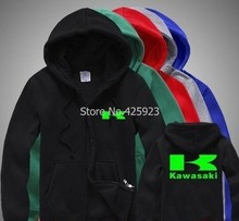 for man and woman Kawasaki sweatshirt motorcycle off-road race fleece jacket zipper coats for fall and winter clothes