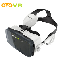 2017 OYOVR Y4 (4.0 Version) Google cardboard VR BOX with Headphone VR Virtual Reality 3D Glasses For 4.7 - 6.2 inch Smartphone