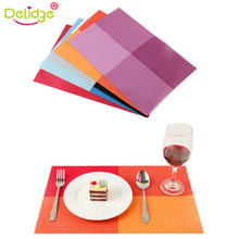 Delidge 1 pc 45*30 cm Europe Style Table Mat PVC Heat-insulated Placemat Dinning Bowl Waterproof Dining Table 5 Colors Pad(China)