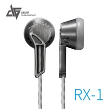 2016 Newest AUGLAMOUR RX-1 In Ear Earphone Flat Head Plug High Quality Full Metal Earbud Headset Free Shipping Support wholesale(China)