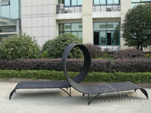 2pcs Lover Luxury Fashion Outdoor Rattan Daybed For Garden / Patio / Pool transport by sea