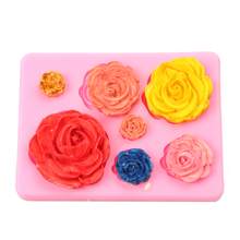 1PCS Valentine Silicone Cake Mold 3D Rose Flower Fondant Chocolate Mould DIY Decorating Tool Silicone Sugarcraft Mold(China)