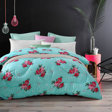 5pcs/set winter comforter set 2017 new arrived winter bedding 5pcs duvet set / pillowcase + duvet cover + comforter + flat sheet(China)