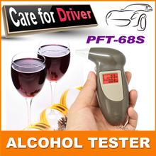 Hot Sale Professional Key Chain Police Digital Breath Alcohol Tester Breathalyzer Analyzer Detector Audio Alert Free Shipping