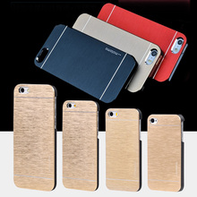 Top Quality Motomo Luxury Metal Brush Gold Case Cover For iPhone 4 4S 5 5S SE 6 6S Plus Aluminum Hard Back Cover Phone Bags
