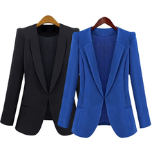 Buy 2017 New Spring Autumn Women Slim Blazer Coat Fashion Jacket Long Sleeve Suit Blazers Work Wear Blazer Female Jaqueta Feminina for $12.63 in AliExpress store