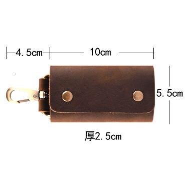 Original-personality-handmade-vintage-brown-crazy-horse-genuine-leather-key-wallet-men-first-layer-cowhide-waist