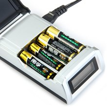 Palo NC05 4 Slots LCD Display Smart Intelligent Battery Charger For AA / AAA NiCd NiMh Rechargeable Batteries - US EU Plug