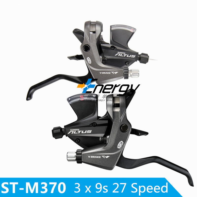 Mountain Bike ST- M370 Thumb Shifter Left &amp; Right MTB Mountain Bike Derailleurs 3 x 9s 27 Speed Bicycle Conjoined DIP<br>