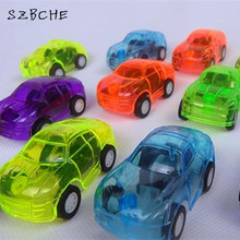 Supermarket hot sale mini pull back cars small toy candy colored transparent pull back warrior car